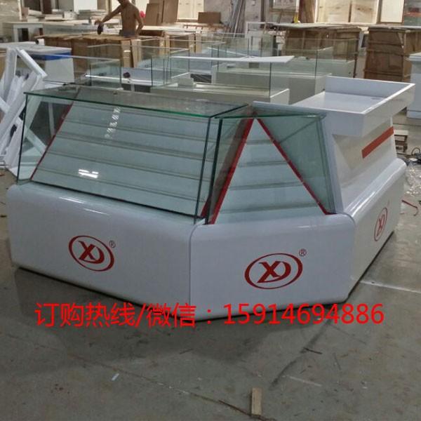 供应上海烟柜酒柜烟草展示柜台红酒柜玻璃柜带烟柜的收银台