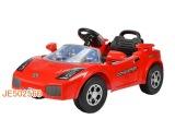 遥控电动儿童汽车可充电红黄二色带音乐 遥控坐人童车批发