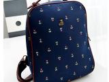 2014新款双肩帆布背包 学生韩版书包女 学院风电脑旅行包