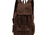 厂直销新款欧美时尚复古双肩男帆布大包包女学生书包旅行背包批发