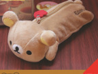 毛绒玩具厂家 rilakkuma轻松熊毛绒笔袋 拉拉熊笔袋 卡通创意礼品