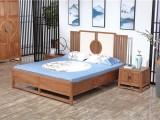 木言木语实木家具中式实木双人床两米大床
