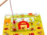 木质木制玩具  磁性钓家禽  儿童益智早教玩具地摊热卖 地摊玩具