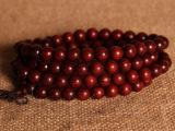 印度小叶紫檀0.8 108颗佛珠手串 同料顺纹高油高密 男女念珠