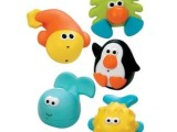 美国 Sassy 婴儿洗澡沐浴喷水玩具套装5只装 进口沐浴玩具1
