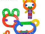 儿童玩具礼盒条形拼搭益智早教拼插拼装玩具幼儿园批发