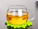 耐热玻璃杯 花茶杯 绿茶杯 果汁杯 带把