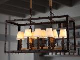 复古怀旧灯饰 老家具工业布罩吊灯 创意个性灯具餐厅客厅酒店灯饰