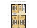 西城德胜门新风南里 板楼三层 单价12万/平米 南北四居 没