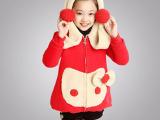 2014新款秋冬款女童加绒加厚韩版中童卫衣一件代发