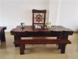 老船木海船龍骨大茶臺中式復古功夫泡茶桌椅