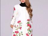 2014秋冬新款中国民族风女装重工刺绣欧美大码羊毛呢子大衣外套