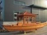 单亭船 观光木船 休闲木船 厂家直销 仿古木船
