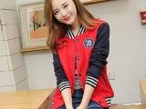 2014秋冬新款 韩版女装 大码棒球服女 时尚卫衣棒球服外套女