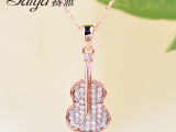 赛雅正品 时尚韩版个性项链 吉他造型短链
