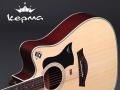 转让吉他。Kepma d1c原木色 41寸云杉面板,9成新