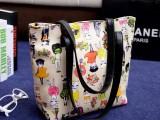 厂家直销2014新款休闲女包涂鸦小猫咪单肩手提包韩版时尚女包批发