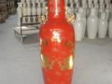 红釉落地大花瓶 陶瓷工艺品 商务陶瓷礼品 家具摆设花瓶