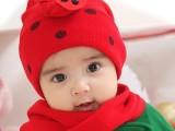 甲壳虫套帽儿童帽批发 秋冬婴儿瓢虫帽子围巾2件套 加大宝宝套帽