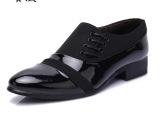 2014春季男士韩版尖头皮鞋潮流英伦商务休闲男鞋子温州真皮鞋批发