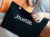 2014韩版新款包邮字母印花帆布单肩包大容量购物袋休闲手提链条包