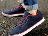 秋季学生帆布鞋子韩版潮流男士布鞋透气休闲鞋板鞋内增高鞋