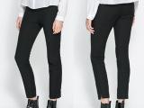 2014夏季新款女士休闲裤子 纯色韩版铅笔小脚裤九分裤子女
