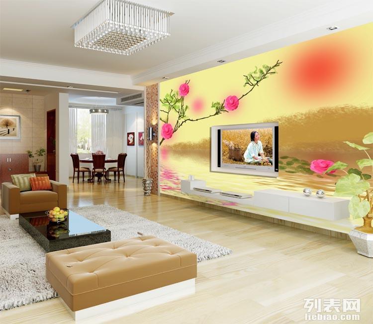 酒店工程主题背景墙壁画定制 酒店客房背景墙纸定制