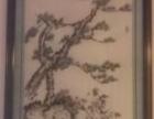 马惠君大师亲笔画的青松图