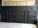 工业风装饰集装箱造型柜子 美式复古边斗柜酒吧餐边柜储物柜