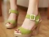 2013初夏新款高跟凉鞋防水台厚底鱼嘴罗马鞋女士皮带扣粗跟淑女鞋
