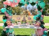 長沙氣球布置-長沙生日宴布置-甜馨蒂芙尼蘭生日派對