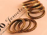 欧美饰品 小巧简约 复古刻字许愿 字母戒指 套戒指环手饰