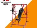 湖南长沙商用健身器材健身房力量器械悍马系列下斜推胸训练器