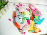 shima西玛 安抚玩偶 婴儿益智宝宝玩具 响纸 BB动物 卡通