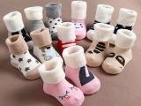 新款  0-2岁小兔款全棉儿童加厚毛圈袜子 婴儿拉毛毛巾袜