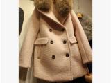 韩国代购 新款女装韩版秋冬毛呢外套女加厚毛领羊毛呢子大衣女