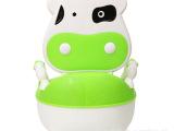 儿童奶牛靠背坐便器 婴儿马桶便盆 宝宝坐便器 儿童宝宝马桶