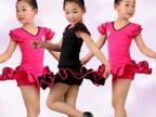 拉丁舞服装女童春秋款拉丁舞练功服长短袖拉丁舞连体裙舞蹈服儿童