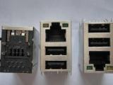 RJ45网口带双层USB接口 1*3三层