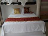 酒店布草 宾馆缎条四件套 床上用品 五星级酒店全棉加密4件套定做