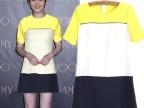 现货批发  2014新款韩版时尚春季短袖拼色连衣裙短裙 6334