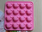 现货批发厂家直销硅胶蛋糕模16连小猪头巧