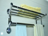 202不锈钢毛巾架 卫生间浴巾架 浴室吸