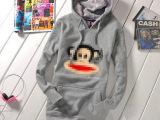 2014冬装新款女猴头加厚不倒绒针织卫衣长袖休闲外套爆款