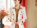 2014年春季新款韩版短款修身风衣女装外套 双排扣女装 小外套