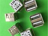 广东深圳USB2.0母座连欣厂家货源充足2.0AF双层连接器