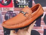 广州真皮鞋厂生产品牌男士休闲手工鞋商务正装皮鞋OEM贴牌加工