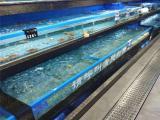 邵阳水产海鲜鱼池定做厂家价格实在的超市海鲜玻璃缸