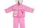 厂家直销 新款宝宝婴儿棉衣 儿童秋冬棉衣天鹅绒两件套加厚女款
